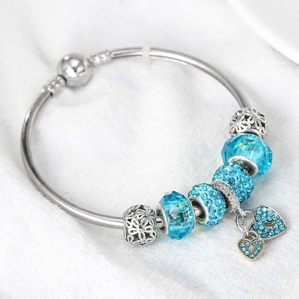 Heart Anti-bullying Awareness Charm Bracelet