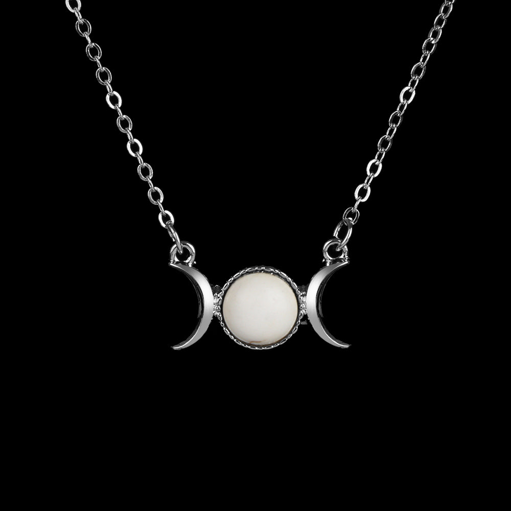 White Moon & Sun Necklace