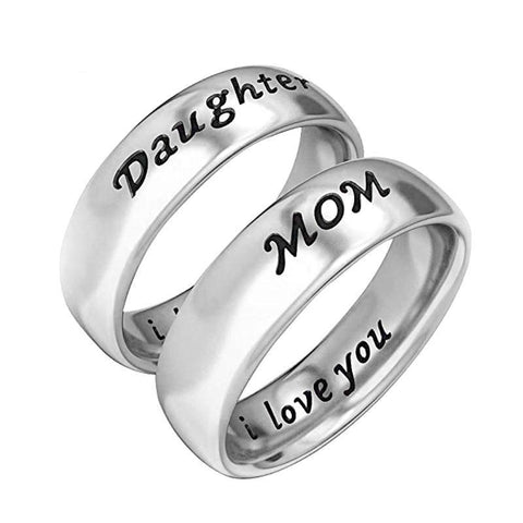 Mom and Daughter Bond Rings