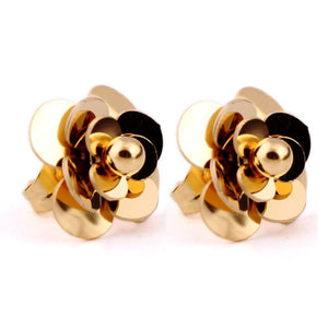 Stainless Steel Rose Earring