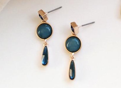 Blue Resin Police Support Stud Earrings