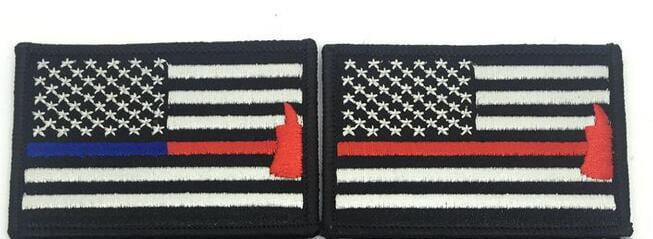Firefighter Axe US Flag Patch