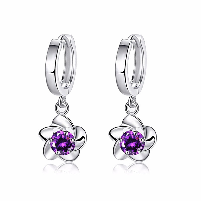 Floral Pancreatic Cancer Awareness Earrings