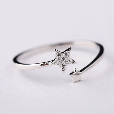 925 Sterling Silver Wrap Around Star Ring