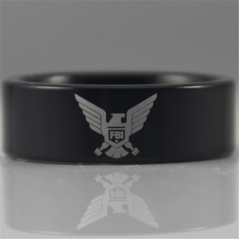 FBI Tungsten Ring (Black)