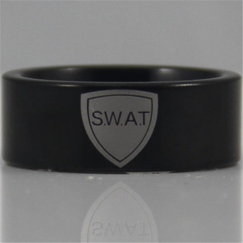 SWAT Tungsten Ring (Black)