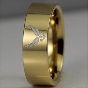 Gold Plated USAF Tungsten Ring
