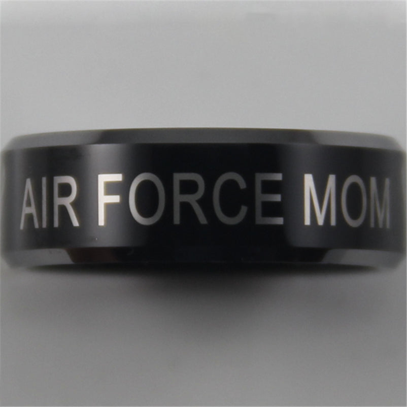Air Force Mom Tungsten Ring