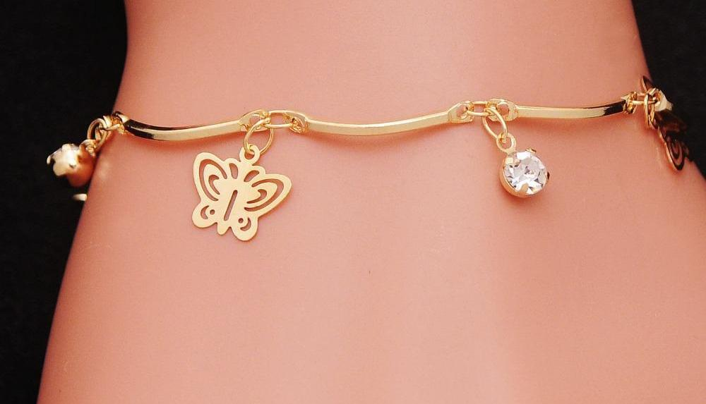 Suicide Awareness Butterfly Charm Stainless Steel Bangles