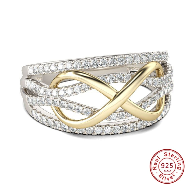 Elegant Gold Dispatcher Support Infinity Ring