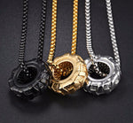 Truck Tire Pendant Necklace