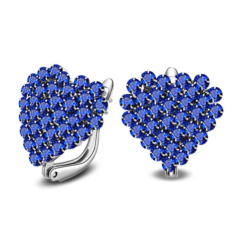Blue Crystal Heart Police Support Ring