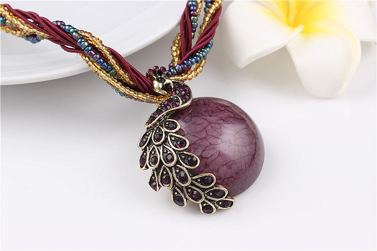 Elegant Purple Stone Necklace