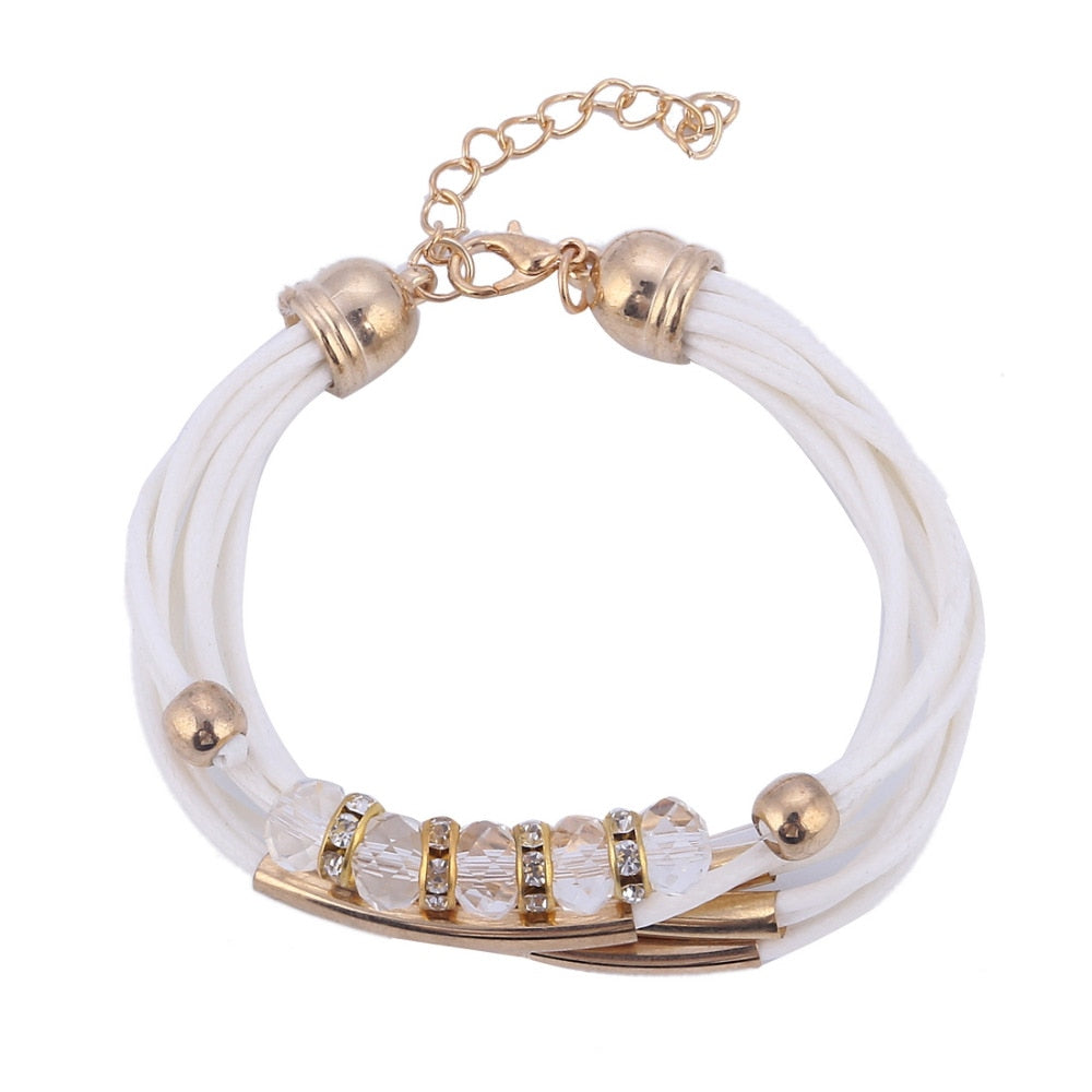 White Multi-layered Safe Motherhood Bracelet