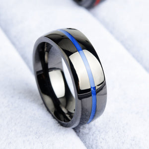Thin Blue Line Ring