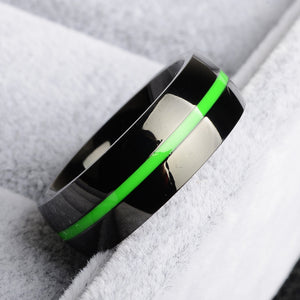 Thin Green Line Ring
