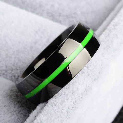 Liver & Adrenal Cancer Green Line Ring