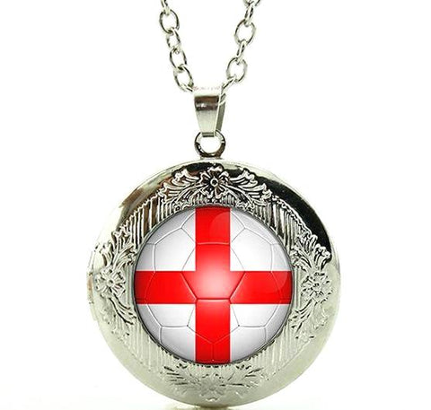 England Flag Locket Necklace