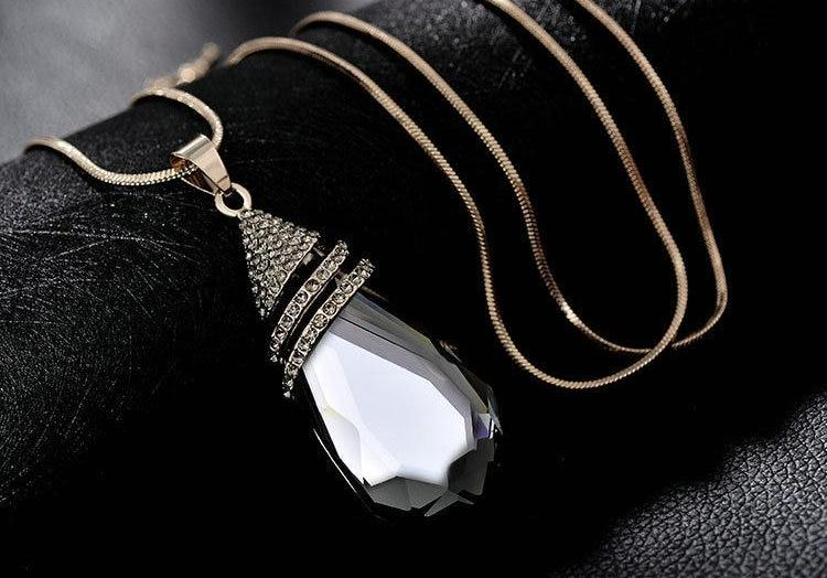 Diabetes Awareness Waterdrop Crystal Necklace