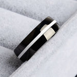Cervical & Uterine Cancer Awareness White Line Ring
