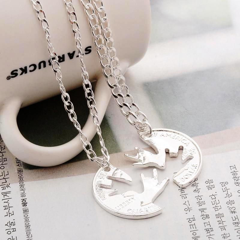 I Love You ASL Sign Interlocking Necklace