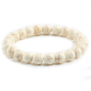 Bone Cancer Awareness Stone Bead Bracelet