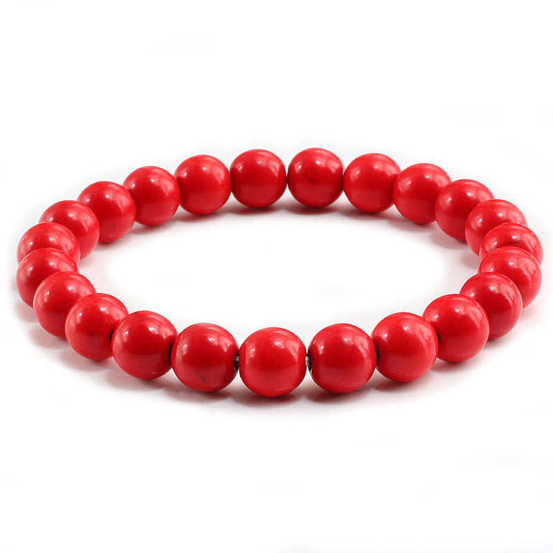 Polished Red Stone Bracelet