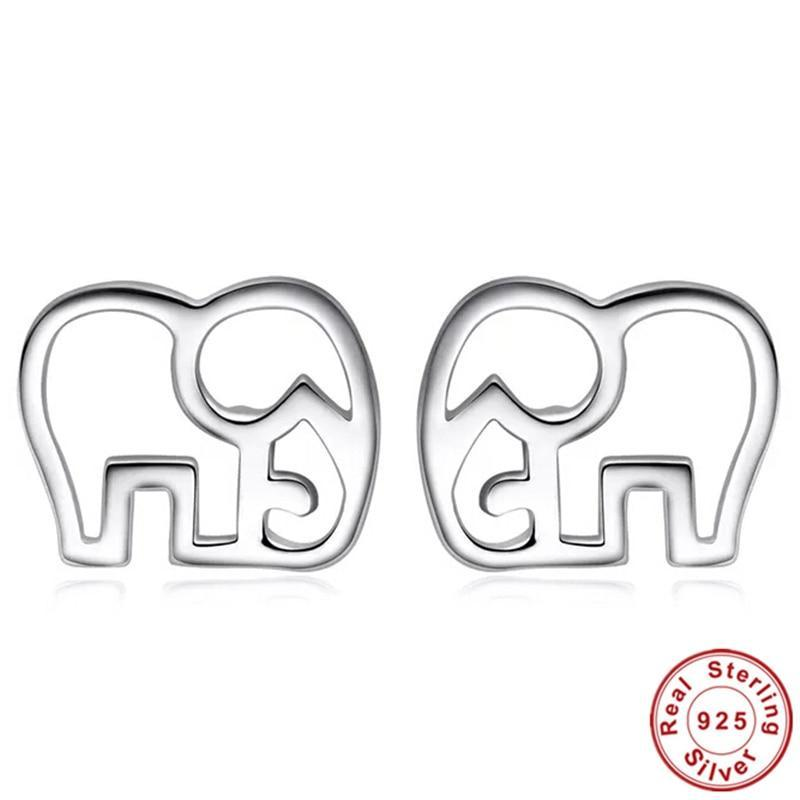 Save the Elephant 925 Sterling Silver Earrings