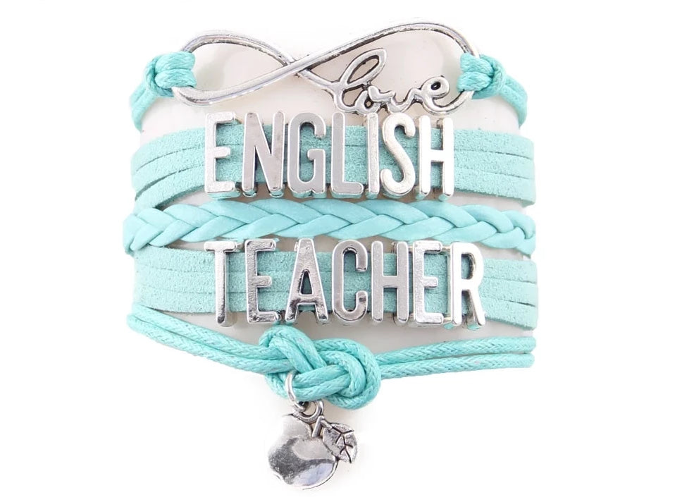 English Teacher Support Infinity Bracelet