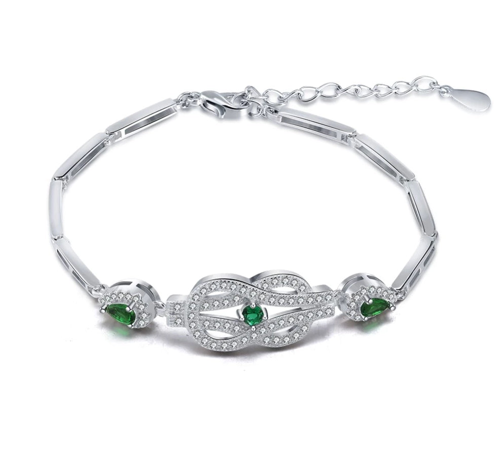 Mental Health Awareness Crystal Chain Bracelet