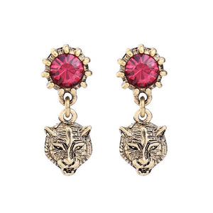 Antique Tiger Drop Earrings