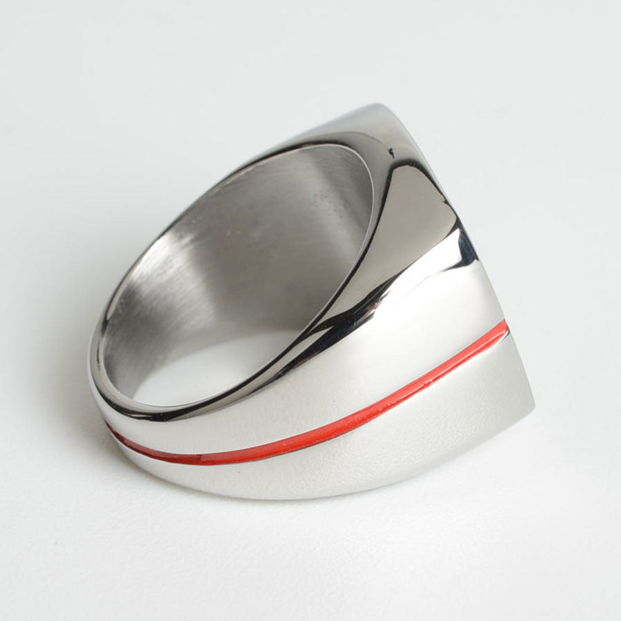 Fire Department Ring - Red Stripe