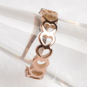 Stainless Steel Heart Lover Rings