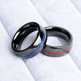 Blue Line/Red Line Ring