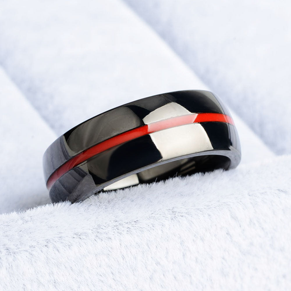 Marines Red Line Ring
