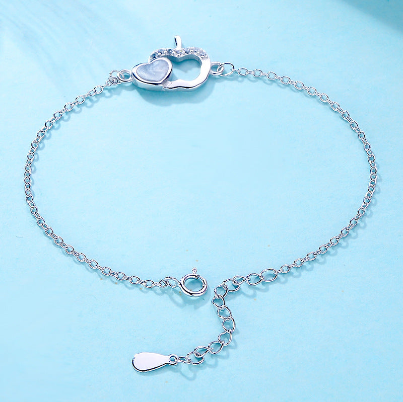 Hunger Awareness Heart Chain Bracelet