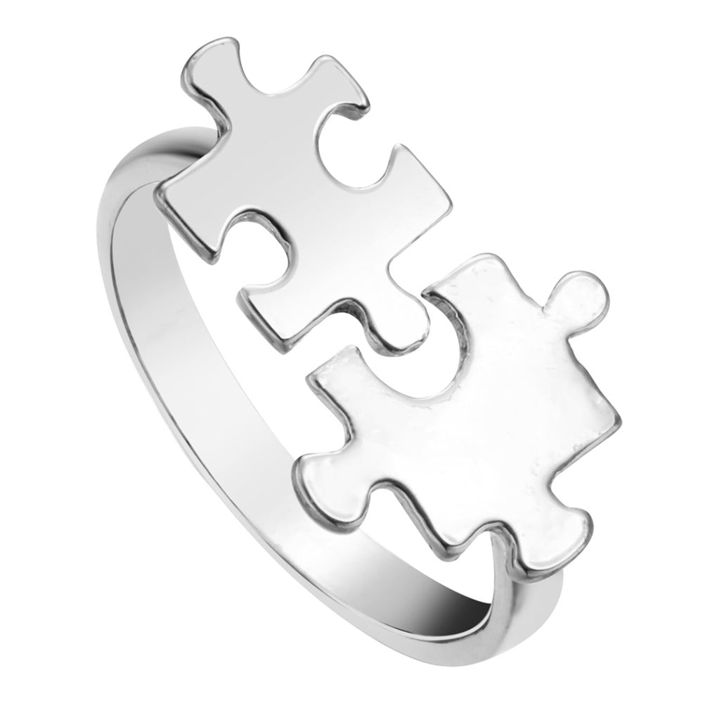 Autism Awareness Audjustable Puzzle Ring