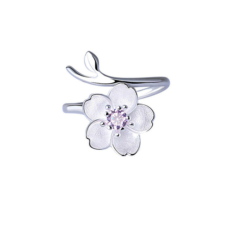Elegant Flower Stainless Steel Ring