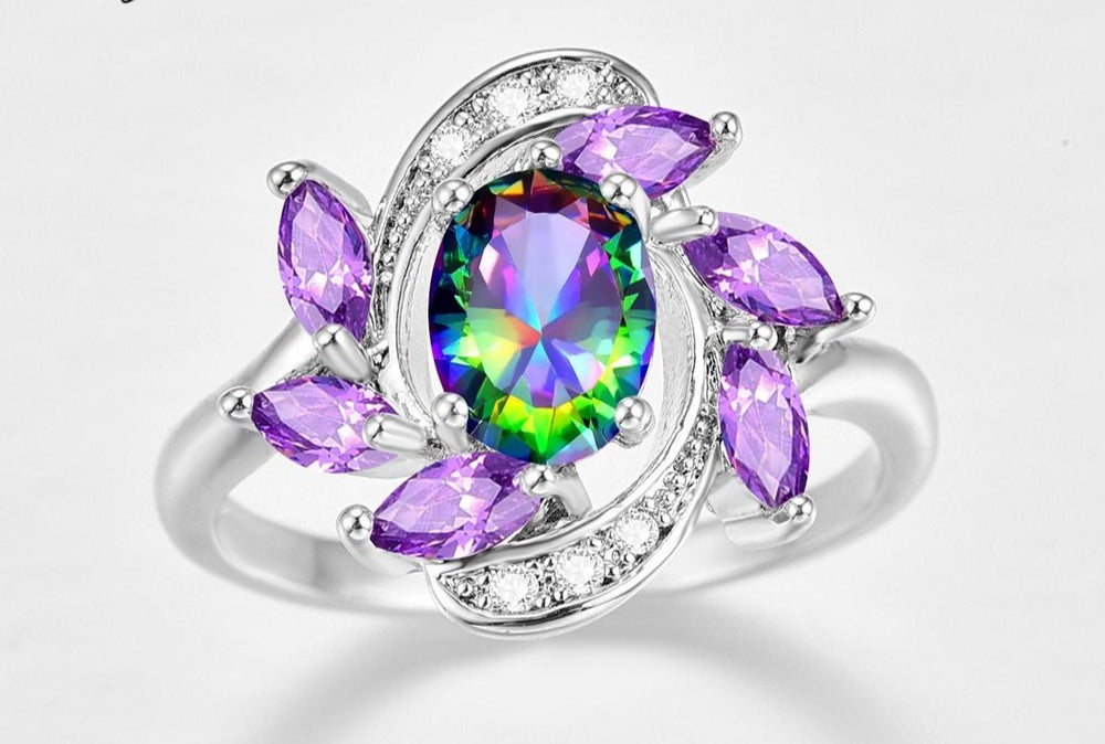 Domestic Violence Awareness Galaxy Ring