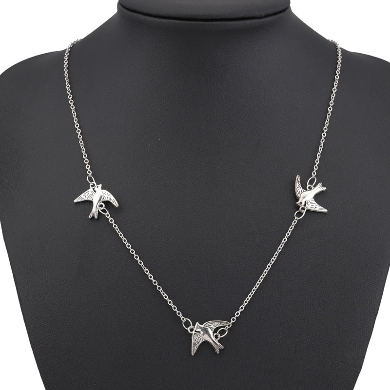 Three Little Doves Necklace