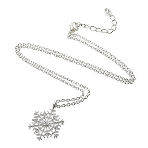 Luxury Crystal Snowflake Necklace