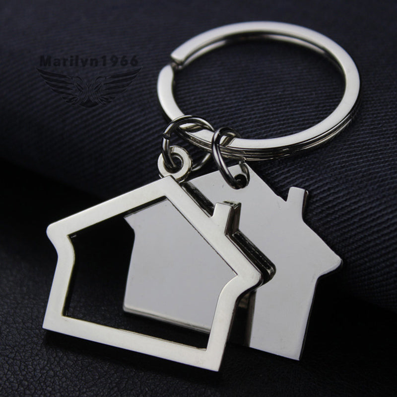 Homelessness Awareness House Keychain