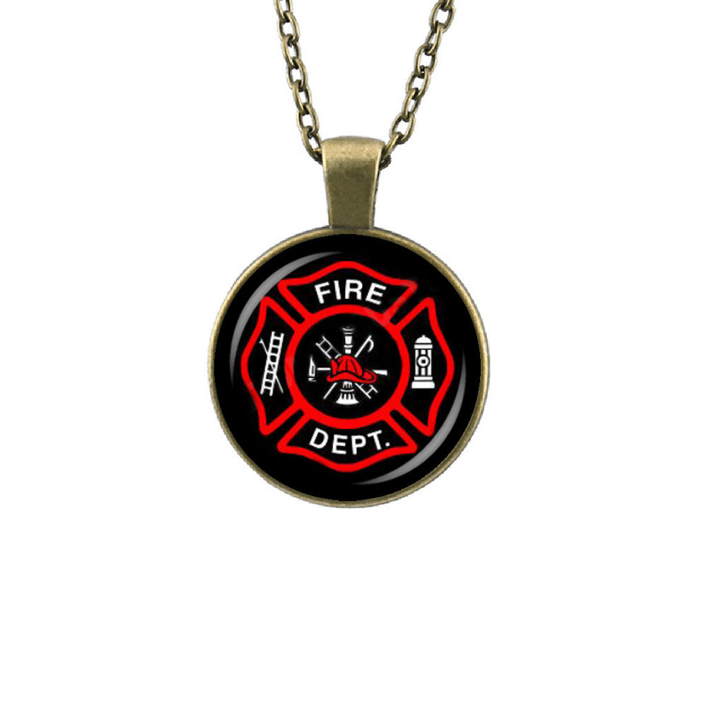 Fire Department Pendant Necklace