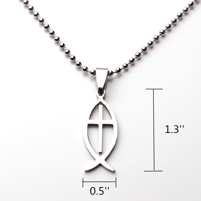 Fish Cross Necklace