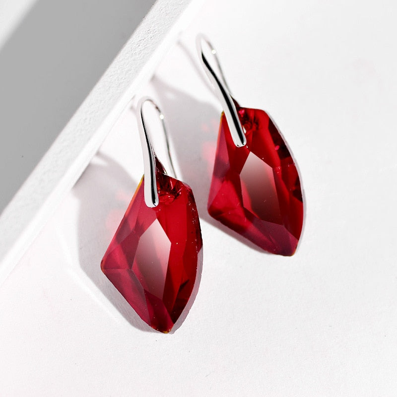 Crystal Fire Safety Awareness Earrings