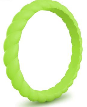 Mental Health Awareness Thin Spiral Silicone Ring