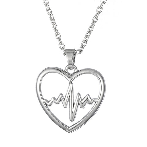 Firefighter Heartbeat Necklace