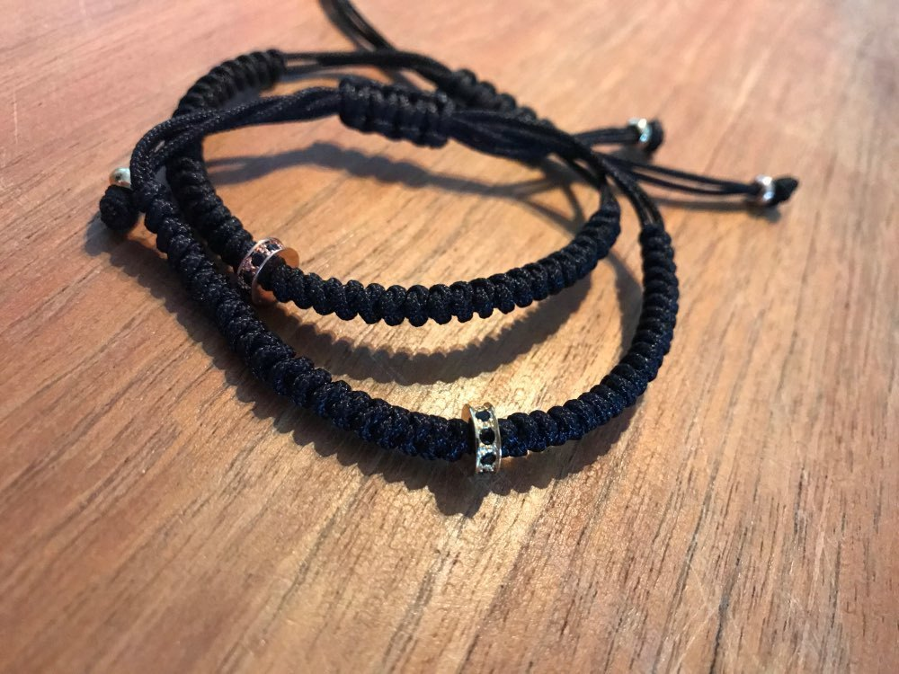 Black  Braided Macrame Bracelet