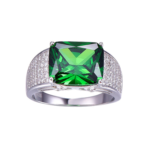 Luxury Emerald Mental Health Awareness Ring