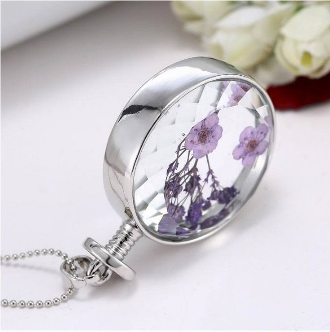 Caregiver Appreciation Round Glass Pendant Necklace